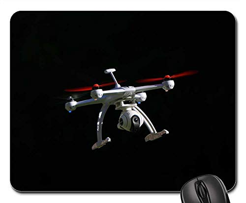 Mouse Pads - Drone Quadrocopter Black Background Flying Machine