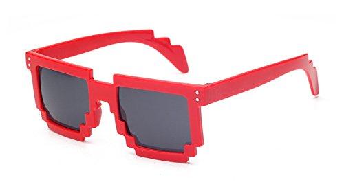 Pixelated Mosaic Sunglasses Thug Life Square Glasses Gamer Geek Funny - Thug Life Shades