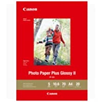 Canon A4 Photo Paper Plus Glossy II 20 Sheets PP301A4