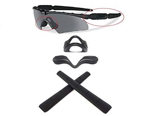 Galaxy Nose Pad + Ear Socks Rubber Kits For Oakley Si Ballistic M Frame 2.0 Z87 Sunglasses Black ()