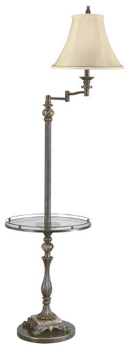 Kathy Ireland Buckingham Glass Tray Floor Lamp