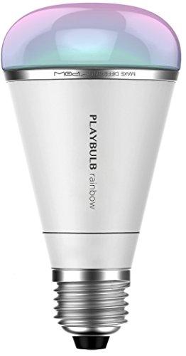 MiPow Playbulb Rainbow 3er-Set - Smart-Home LED-Glühbirne mit Farbsteuerung (5W RGB LED, Sockel E27) und App-Steuerung für Android und Apple iPhone, weiß