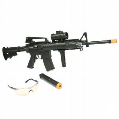 Airsoft Electric M16 Rifle M4A1 Toy gun BBs - Buy Online ... M16 Airsoft Gun