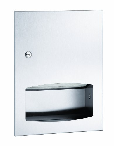 (Bradley 2442-000000 Contemporary Stainless Steel Low Capacity Recessed Towel Dispenser, 13 Width x 17-3/8 Height x 4-1/8 Depth)