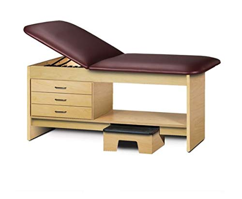 Cabinet Style Medical Treatment Table with Stool 30in W, 3 Drawers (Royal Blue)