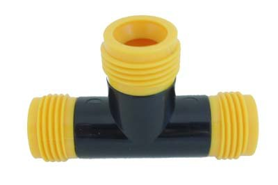 Mr. Soaker Hose .580 Soaker Hose Tee, Bag of 10 -