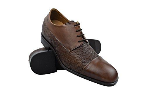 Zerimar Scarpe da Uomo Che Permettono di Aumentare la Statura Fino a +7 cm | Scarpe da Uomo con Aumento| Scarpe Che Aumentare la Tua Altezza | Colore Pelle Taglia 42