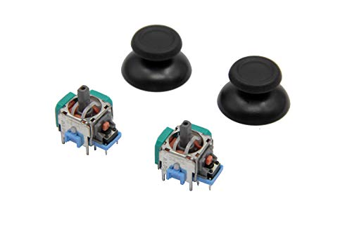 Asia New Power NEW 2Pcs 3D Controller Joystick Axis Analog Sensor Module  And ThumbStick for PS3 PS4 ALPS Joystick controller