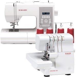 Juego de 4 - máquina de coser Singer y Singer Overlock: Amazon.es ...