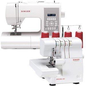 Juego de 4 - máquina de coser Singer y Singer Overlock