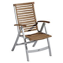 Gartenstühle hochlehner  Amazon.de: BALKE Gartenstuhl Hochlehner Venezuela, Aluminium und Teak