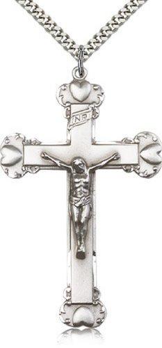 Icecarats Créatrice De Bijoux En Argent Sterling Pendentif Crucifix 2 3/8 X 1 3/8 Pouces