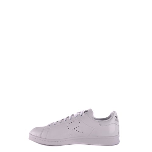 Sneaker Adidas x RAF Simons Stan Smith in Pelle Bianca Bianco