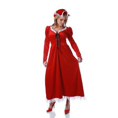 MRS. CLAUS nightgown dress adult womens Santa mrs miss Christmas holiday costume (Misses Claus Costume)