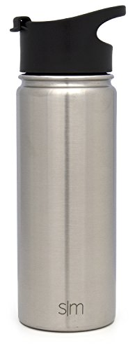 Simple Modern 18 Ounce Summit Sports Water Bottle - Travel Mug Stainless Steel Tumbler Flask +2 Lids - Wide Mouth Double… |