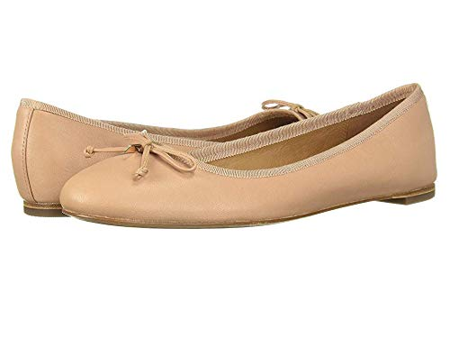 Coach Womens Flatiron Closed Toe Ballet Flats, Tan/Shell, Size 9.0