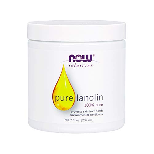 NOW Solutions, Pure Lanolin, Wind and Harsh Environment Skin Protectant, Thick Jelly, For Rough Dry Skin, 7-Ounce (Lansinoh Lanolin Cream)