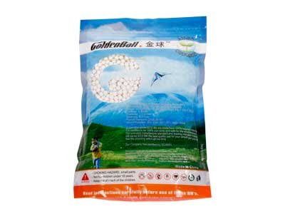 Golden Ball 6mm Airsoft BB .25g 3000 round bag WHITE GB3025W by GoldenBall