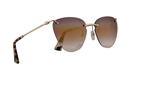 Valentino VA 2022 Sunglasses Light Gold w/Trisfumata Mirror Pink Lens 58mm 3003E7 VA2022S VA2022/S VA2022