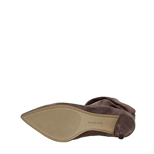Michael Michael Kors Womens Carey Bootie Closed Toe Ankle, Taupe, Size ()