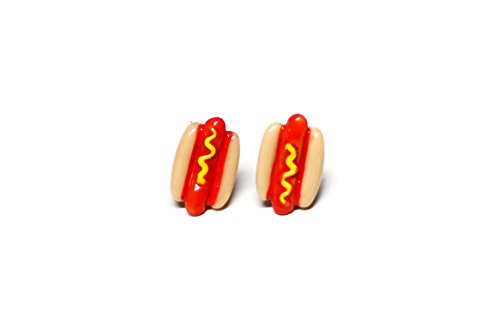 Retro Hot Dog Post Earrings