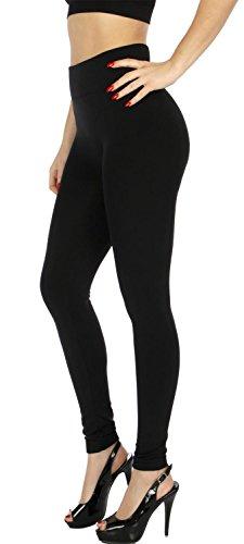 ce High Weist Yoga Nylon Stretch Leggings (Black) (Nylon Stretch Leggings)