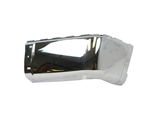 REAR BUMPER CAP CHROME (STEEL) WITHOUT SENSOR HOLE RH GM1105149 (Rear Bumper For 2014 Gmc Sierra compare prices)