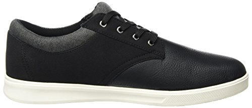 JACK & JONES Herren Jfwgaston PU Mix Anthracite Sneaker Grau (Anthracite)