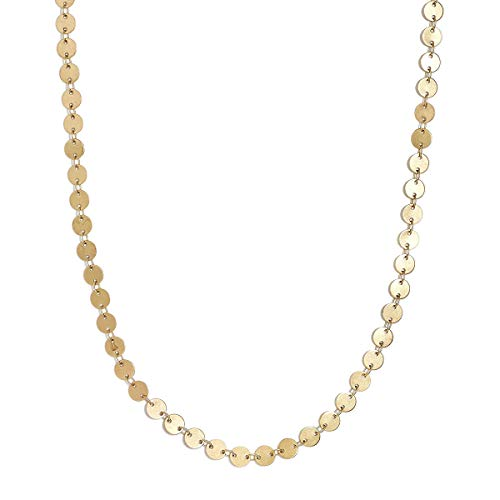 Dangle Multi Chain Necklace - Zealmer Daycindy Minimalist Gold Coin Choker Disc Pendant Necklace Jewelry for Women