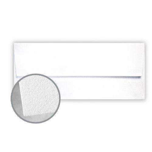 CRANE'S LETTRA Fluorescent White Envelopes - No. 10 Square Flap (4 1/8 x 9 1/2) 32 lb Writing Lettra 100% Cotton 200 per Box ()