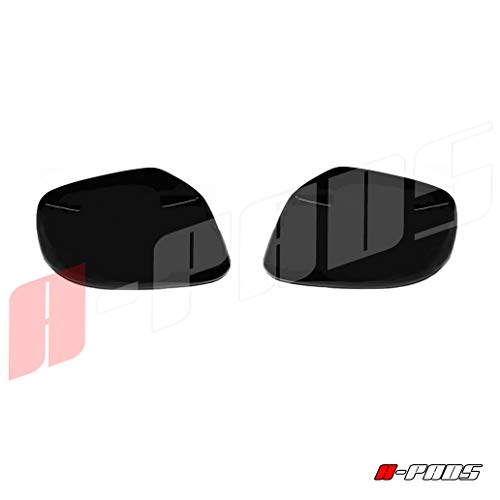 A-PADS Nissan 2005 06 07 08 09 2010 11 12 13 14 15 2016 Frontier + 05-2012 Pathfinder Xterra 2 Black Gloss Full Mirror Covers