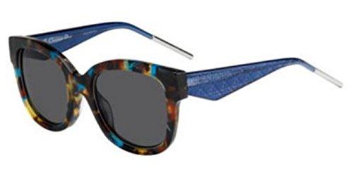 New Christian Dior VERY DIOR 1N VV4/Y1 Blue Havana/Grey (Very Dior Sunglasses)