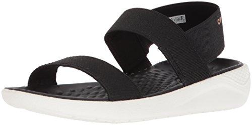 Sandália, Crocs, Literide Sandal, Black/white, 38, Feminino