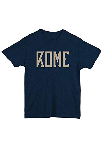 Rome Snowboards Men's Graphic Snowboard Logo T-Shirt, Heather Navy, ()