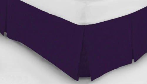 Polybaumwolle King Size rose Einfarbiger Luxus-Polyester-Baumwoll-Bettbezug Faltenvolant-Bettlaken