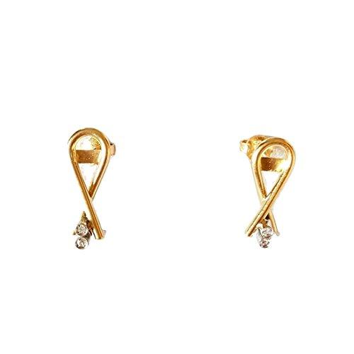 Boucles d'oreilles or jaune 18cts 750diamants naturels 0.02Cts G VVS 3,50gr.