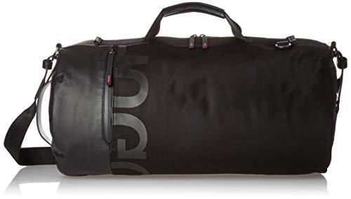 HUGO by Hugo Boss Men's Tech Nylon Holdall Duffel Bag, black, One Size