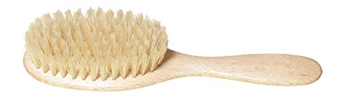 Redecker Natural Pig Bristle Children's Hairbrush with Waxed Beechwood Handle, 7-1/4-Inches