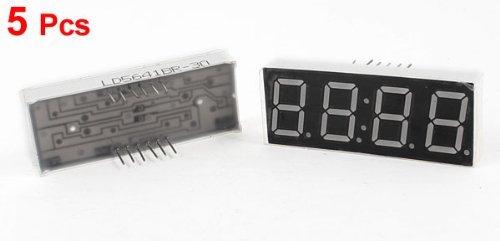 Amazon.com: eDealMax 5 piezas de ánodo común 12 Terminales 4 Bit 7 Seg 0,56 Reloj LED Rojo pantalla de tubo Digital: Electronics
