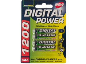 4 X Aaa 1200 Mah Accupower Nimh Rechargeable Batteries