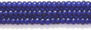 Preciosa Ornela Czech Seed Bead, Transparent Deep Cobalt, Size 10/0 Shipwreck Beads 10SB279