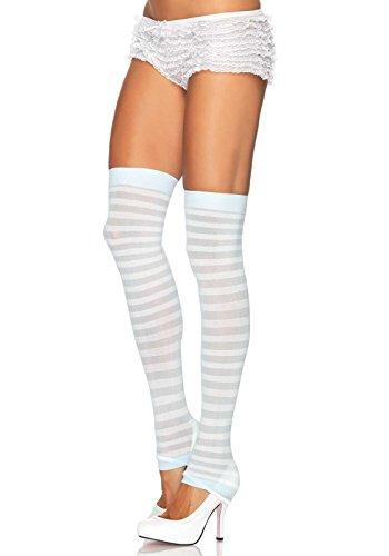 Leg Avenue Women's Opaque Stripe Leg Warmers,
