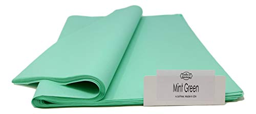 light blue and green paper poms - 7