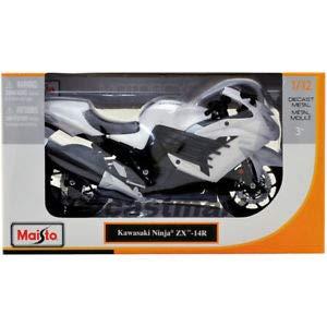 Amazon.com: Kawasaki ZX14R Ninja White 1:12 DIECAST ...