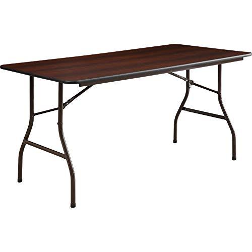 BLOSSOMZ Lorell 65755 Folding Table, 60-Inch x30-Inch x29-Inch, Mahogany