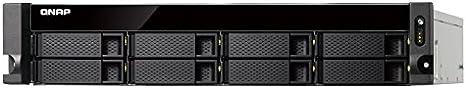 QNAP TS-863XU-RP Ethernet Bastidor (2U) Negro NAS - Unidad Raid (Unidad de Disco Duro, SSD, Serial ATA III, 2.5,3.5