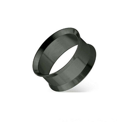 - Freedom Fashion Black PVD Plated over 316L Surgical Steel Double Flared Tunnel Plug (Sold Pair) (9/16
