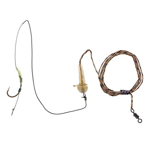 Ameglia 1 x Carp Fishing Rig Swivel Hair Rig Fishing Tool Hook Size 2# 4# 6# 8# (Size - 4)