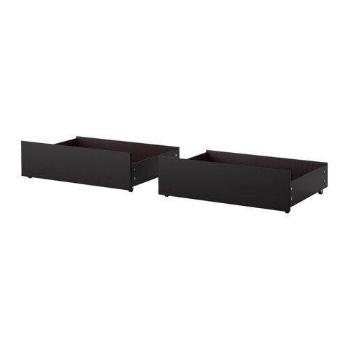 Ikea MALM - Caja de Almacenamiento de Cama, 2 Pack Negro-marrón: Amazon.es: Hogar