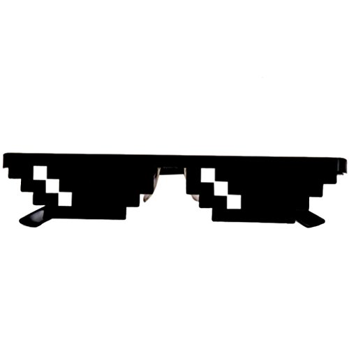 8 Bit Pixelated Costume (Novelty Sunglasses Toy, OULucicy Thug Life Glasses 8 Bit Pixel Deal With IT Sunglasses Unisex Goggles Eyewear Toy (1 mosaic))